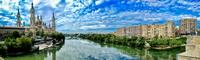 Сарагоса. Вид с каменного моста через р. Эбро