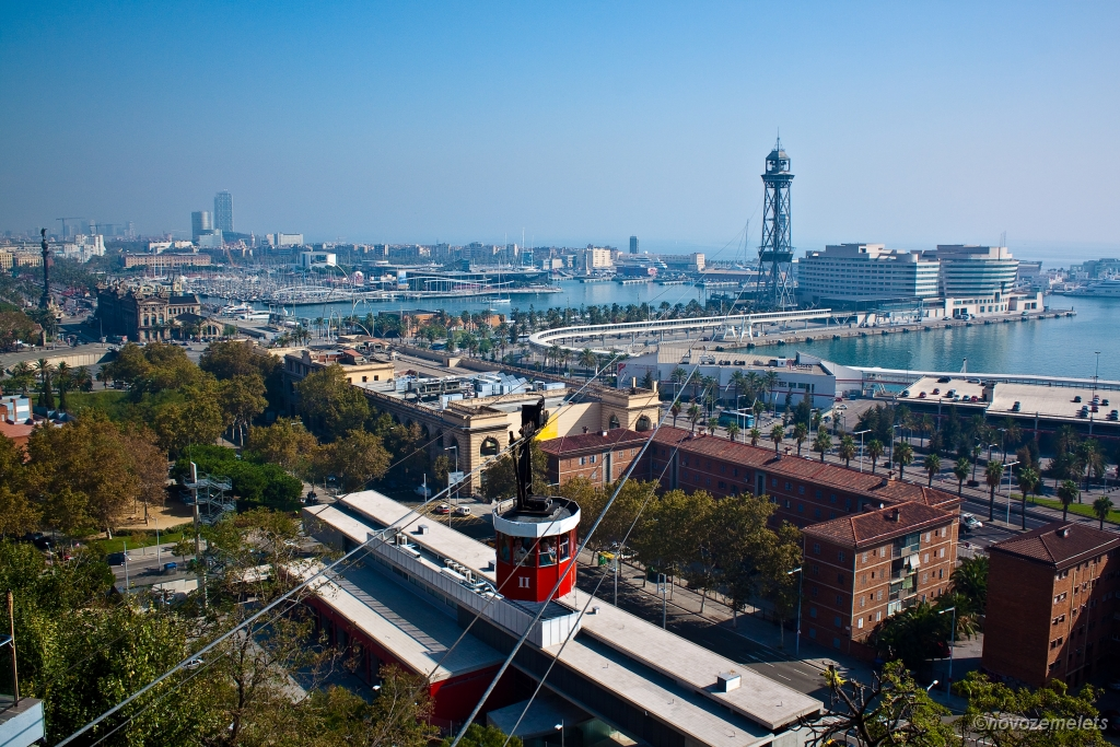 Барселона, канатная дорога Барселонетта-Монжуик
